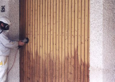 Garagentor aus Holz